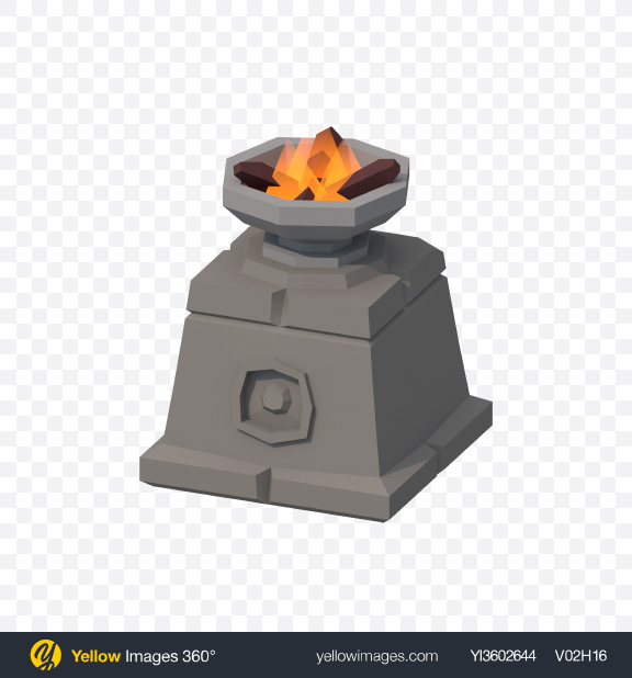 Download Low Poly Bonfire Transparent PNG on YELLOW Images