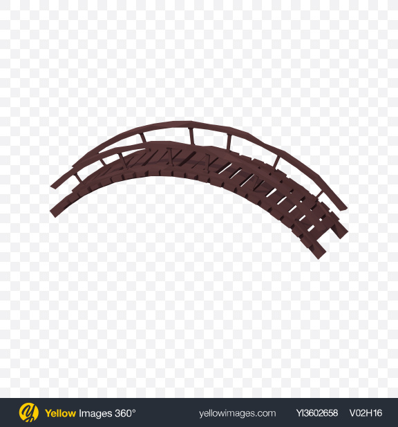 Download Low Poly Wooden Bridge Transparent PNG on Yellow Images 360°