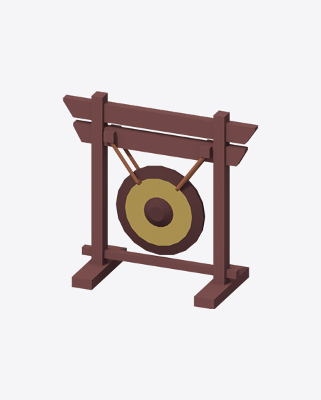 Low Poly Gong