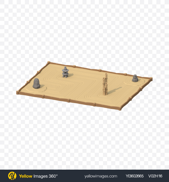 Download Low Poly Sand Garden Transparent PNG on Yellow Images 360°