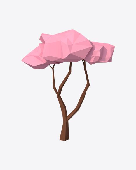 Low Poly Sakura Tree
