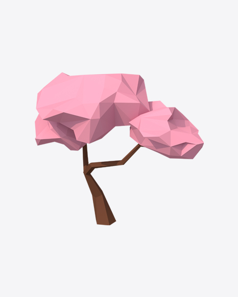Low Poly Sakura Tree