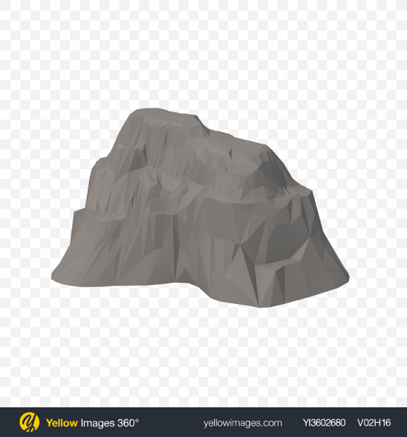 Download Low Poly Cliff Transparent PNG on Yellow Images 360°