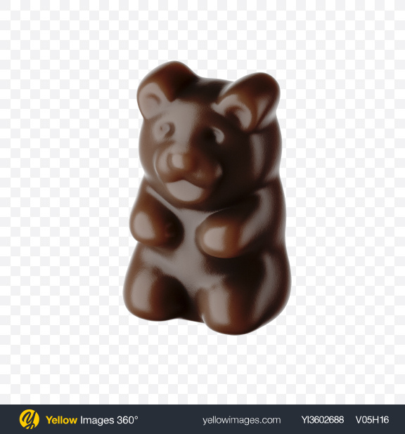 Download Brown Gummy Bear Transparent PNG on YELLOW Images