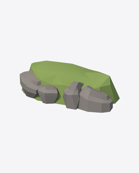 Low Poly Stone Hill