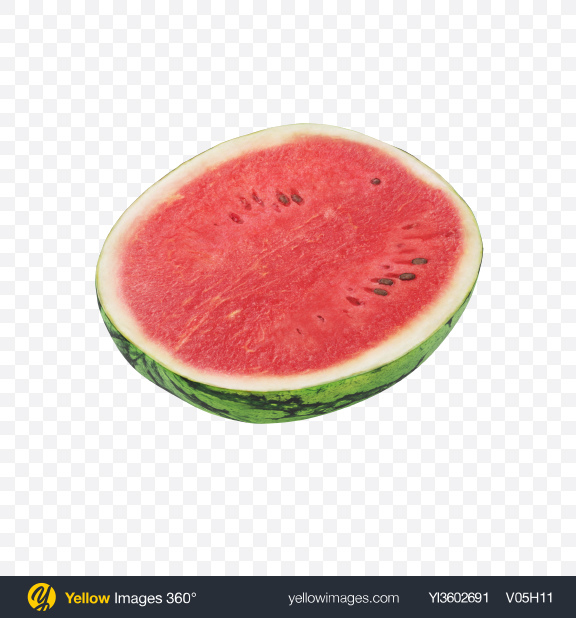 Download Half of Watermelon Transparent PNG on Yellow Images 360°