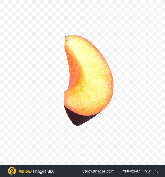 Download Plum Slice Transparent PNG on Yellow Images 360°