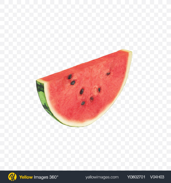 Download Watermelon Slice Transparent PNG on Yellow Images 360°