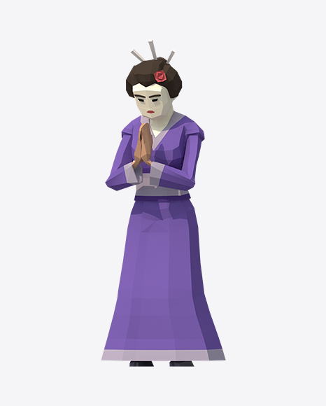 Low Poly Geisha