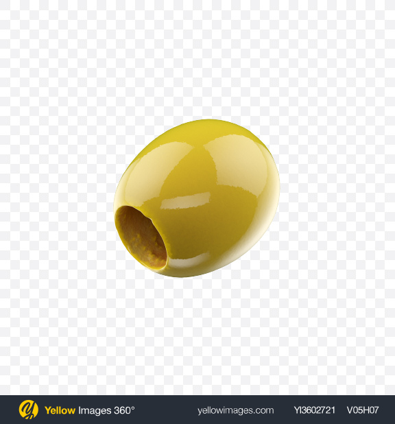 Download Pitted Green Olive Transparent PNG on Yellow Images 360°