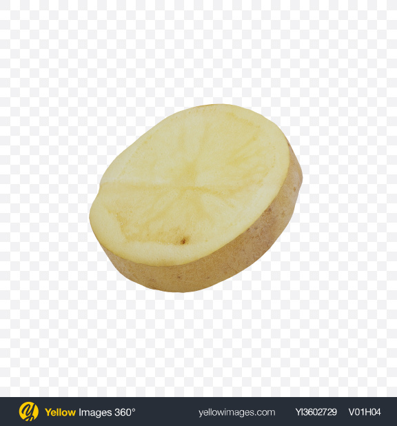 Download Potato Slice Transparent PNG on Yellow Images 360°