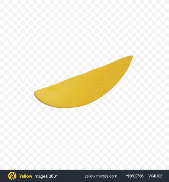 Download Yellow Mango Slice Transparent PNG on Yellow Images 360°