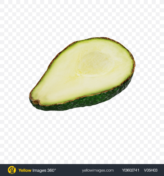 Download Half of Avocado Transparent PNG on Yellow Images 360°