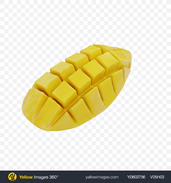 Download Sliced Yellow Mango Transparent PNG on Yellow Images 360°