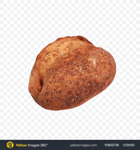 Download Wholegrain Bread Transparent PNG on Yellow Images 360°