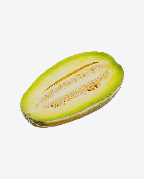 Half of Yellow Long Melon