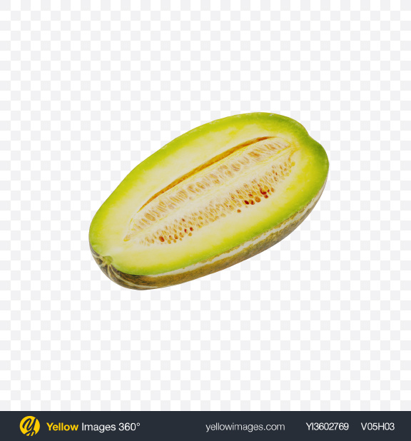 Download Half of Yellow Long Melon Transparent PNG on Yellow Images 360°