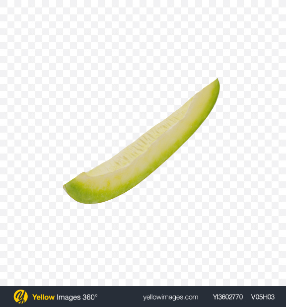 Download Yellow Long Melon Slice Transparent PNG on Yellow Images 360°