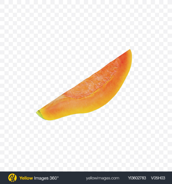 Download Papaya Slice Transparent PNG on Yellow Images 360°