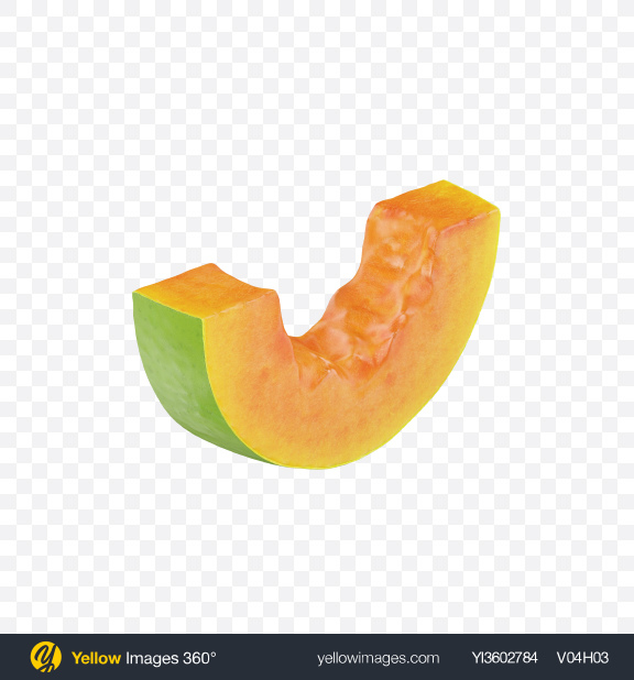Download Papaya Slice Transparent PNG on YELLOW Images