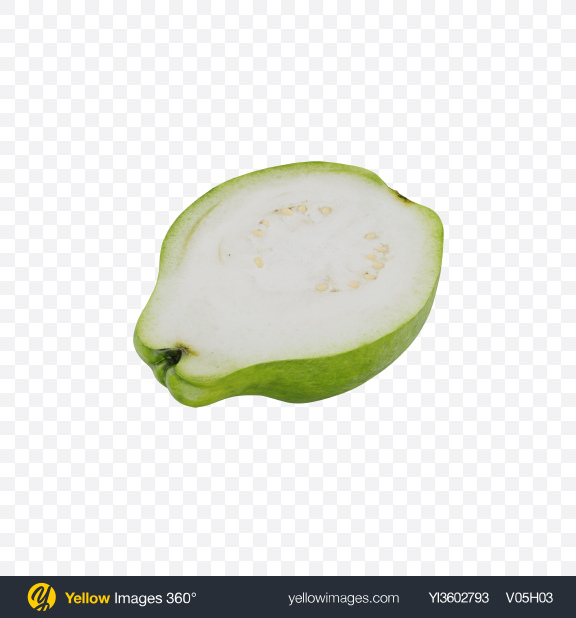 Download Half of White Guava Transparent PNG on Yellow Images 360°