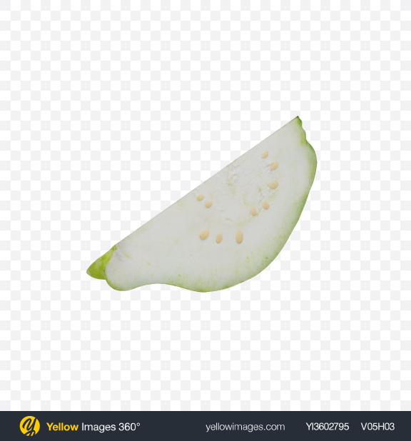 Download White Guava Slice Transparent PNG on Yellow Images 360°