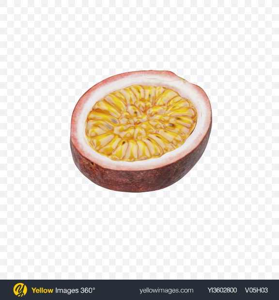 Download Half of Passionfruit Transparent PNG on Yellow Images 360°