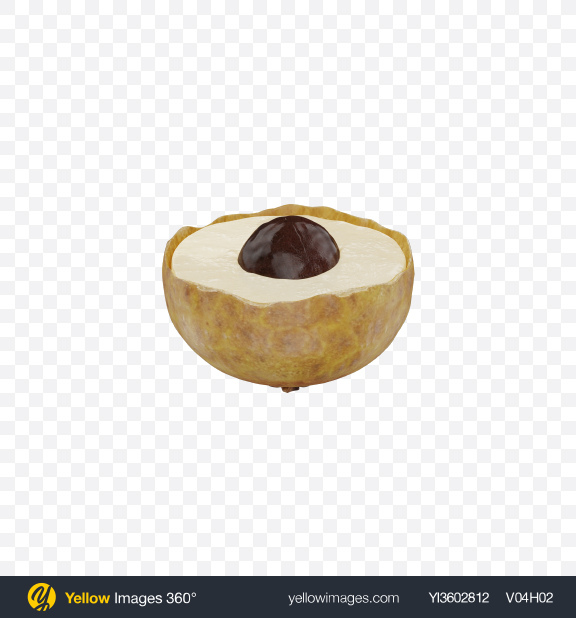 Download Half of Longan Transparent PNG on Yellow Images 360°