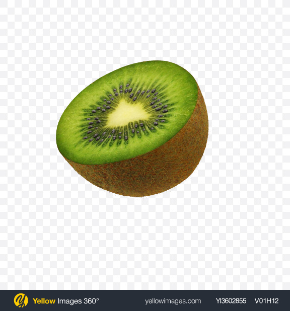 Download Half of Kiwi Transparent PNG on Yellow Images 360°