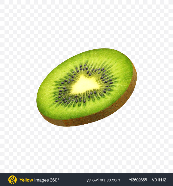 Download Kiwi Slice Transparent PNG on Yellow Images 360°