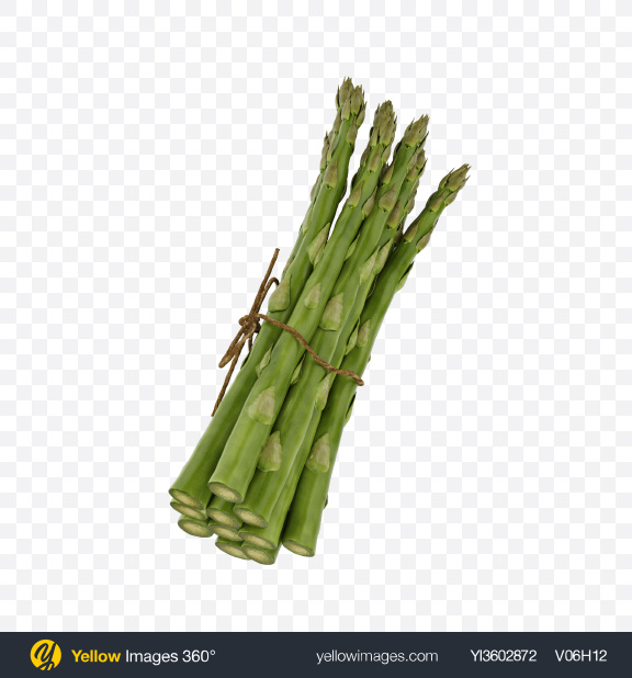 Download Bunch of Asparagus Transparent PNG on Yellow Images 360°