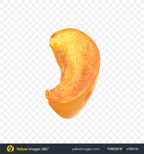 Download Apricot Slice Transparent PNG on Yellow Images 360°