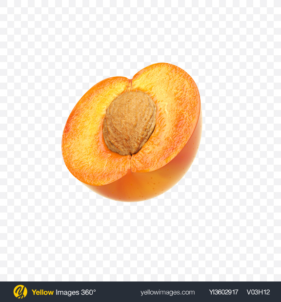 Download Half of Apricot Transparent PNG on Yellow Images 360°