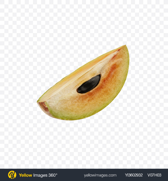 Download Sapodilla Slice Transparent PNG on Yellow Images 360°