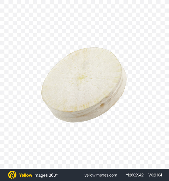 Download Daikon Slice Transparent PNG on Yellow Images 360°