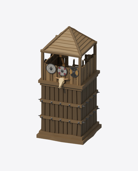 Low Poly Watch Tower