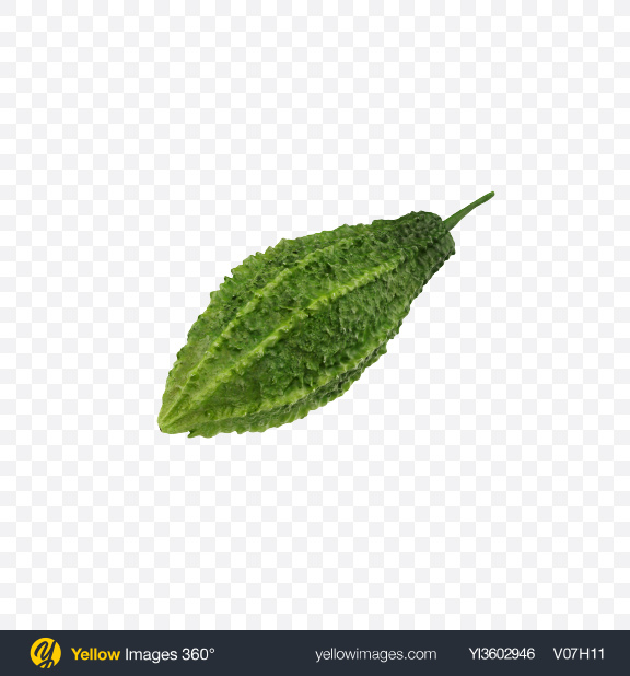 Download Bitter Melon Transparent PNG on Yellow Images 360°