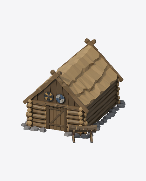 Low Poly Log House