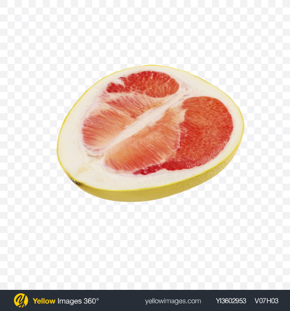 Download Half of Yellow Pomelo Transparent PNG on Yellow Images 360°
