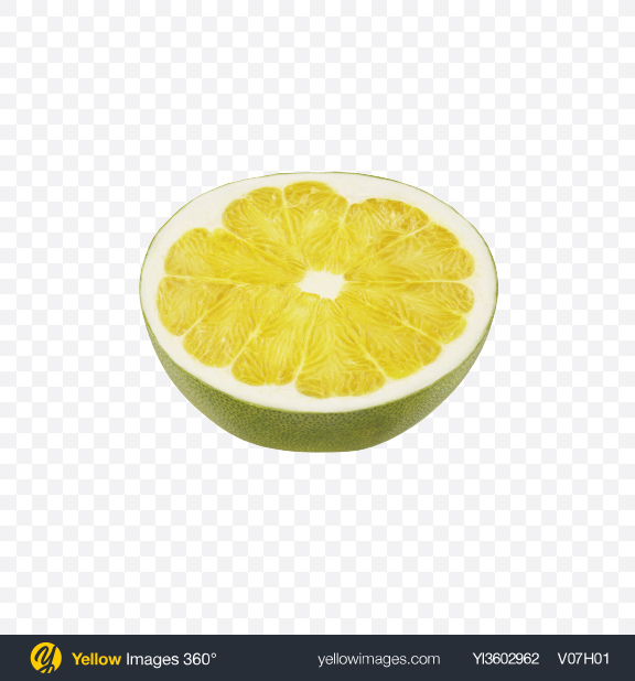 Download Half of Green Pomelo Transparent PNG on Yellow Images 360°