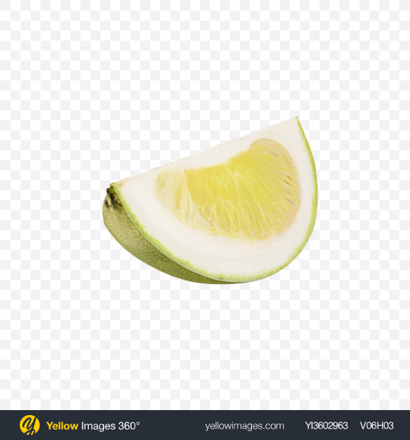 Download Green Pomelo Slice Transparent PNG on Yellow Images 360°