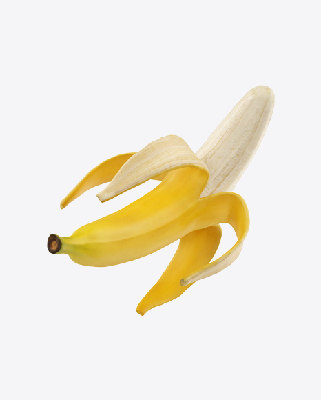 Half Peeled Banana