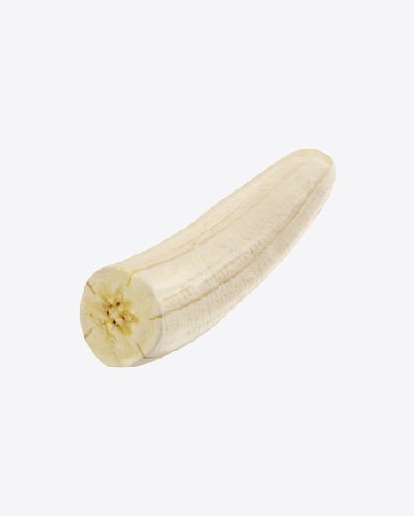 Peeled Half of Banana