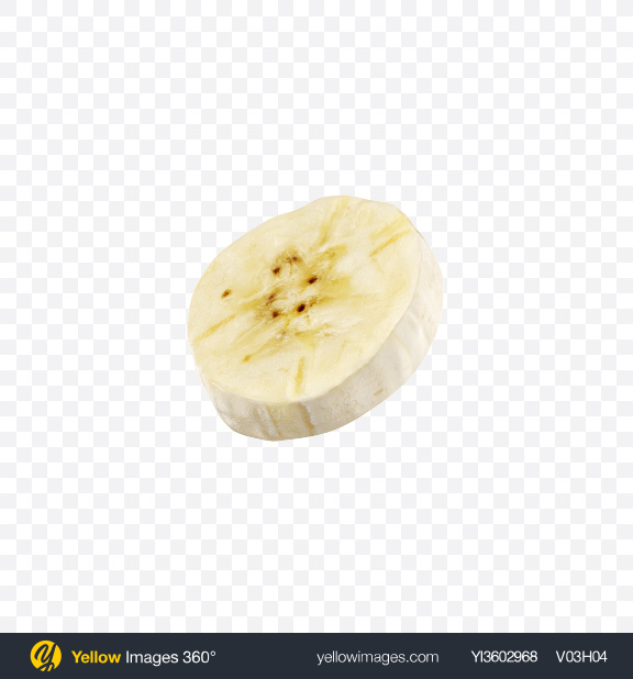 Download Peeled Banana Slice Transparent PNG on Yellow Images 360°