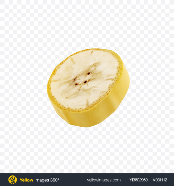 Download Banana Slice Transparent PNG on Yellow Images 360°
