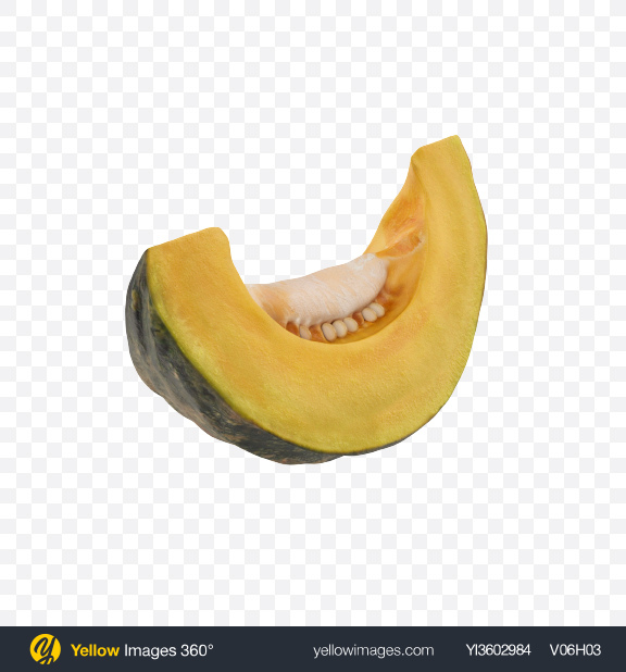 Download Kabocha Slice Transparent PNG on YELLOW Images