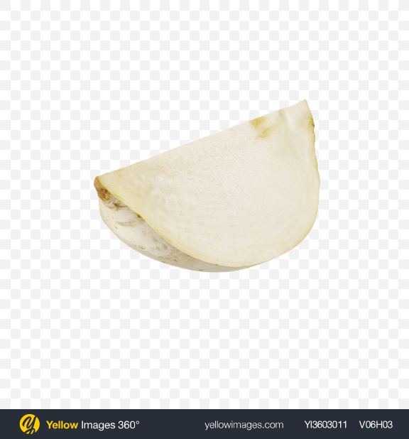Download White Radish Slice Transparent PNG on Yellow Images 360°