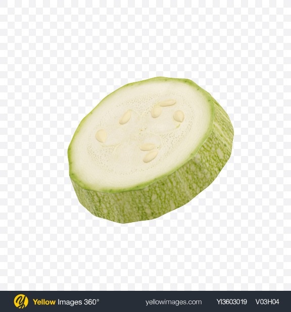 Download Zucchini Slice Transparent PNG on Yellow Images 360°