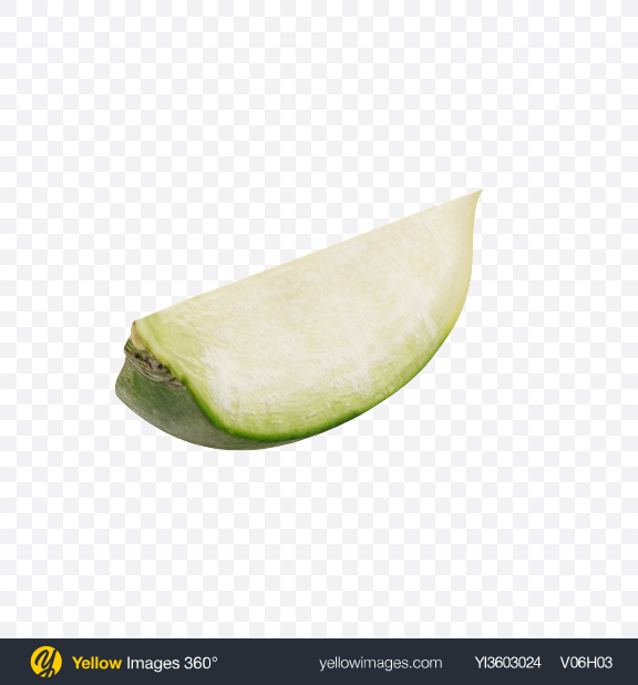 Download Green Radish Slice Transparent PNG on Yellow Images 360°