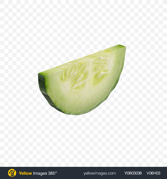 Download Cucumber Slice Transparent PNG on Yellow Images 360°